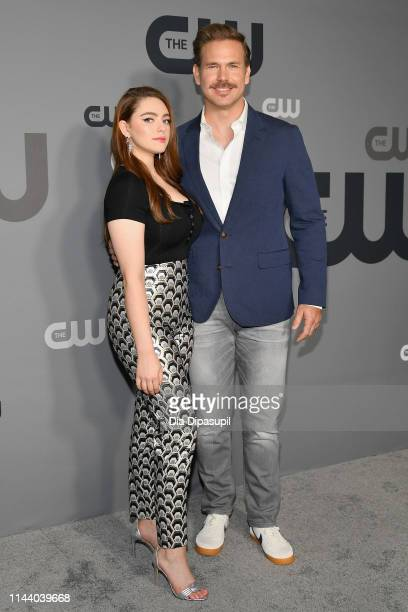 Danielle Rose Russell and Matthew Davis of Legacies attend the 2019 CW Network Upfront at New York City Center on May 16 2019 in New York City