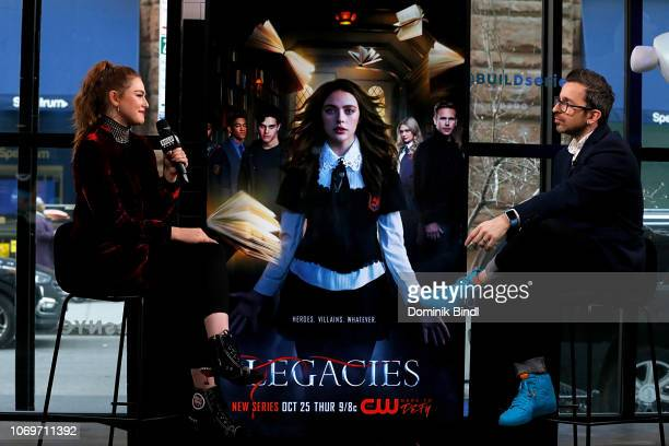Danielle Rose Russell attends the Build Series to discuss 'Legacies' at Build Studio on November 19 2018 in New York City