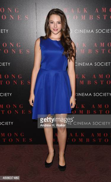 Danielle Rose Russell attends the Universal Pictures and Cross Creek Pictures with The Cinema Society screening of A Walk Among the Tombstones at...