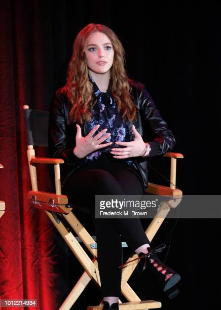 Danielle Rose Russell from Riverdale speaks onstage at the CW Network portion of the Summer 2018 TCA Press Tour at The Beverly Hilton Hotel on August...