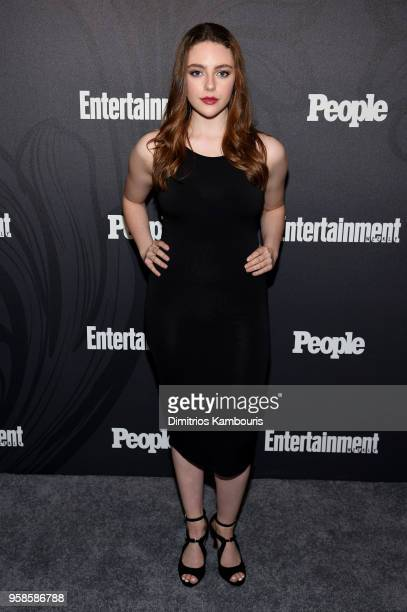 Danielle Rose Russell of The Originals attends Entertainment Weekly PEOPLE New York Upfronts celebration at The Bowery Hotel on May 14 2018 in New...
