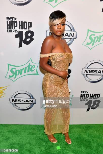Danielle Rosias arrives at the BET Hip Hop Awards 2018 at Fillmore Miami Beach on October 6 2018 in Miami Beach Florida