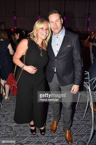 Danielle Rossen and Jeff Rosen attend NYU Langone's Playing for Pediatrics Winter Game Night at The Ziegfeld Ballroom on March 8 2018 in New York City