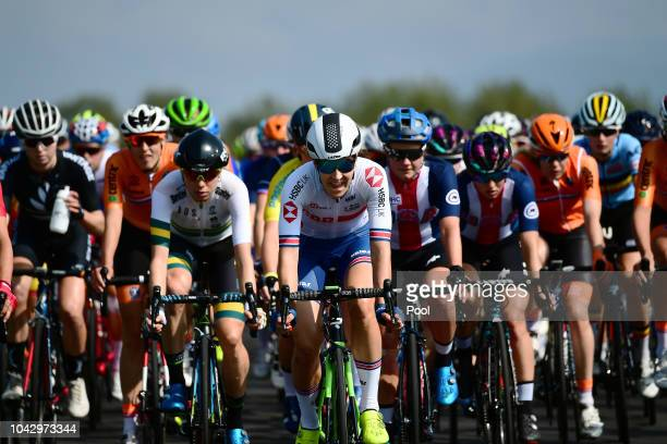 Danielle Rowe of Great Britain / during the Women Elite Road Race a 1562km race from Kufstein to Innsbruck 582m at the 91st UCI Road World...