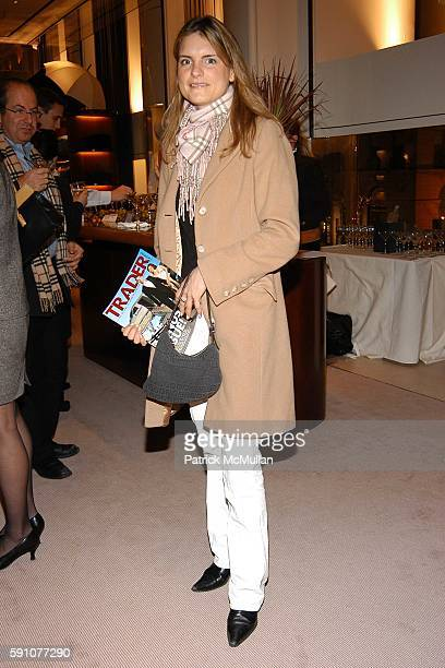 Danielle Salm attends Asprey/ Trader Monthly Magazine Cocktail Party at Asprey on February 2 2005 in New York City