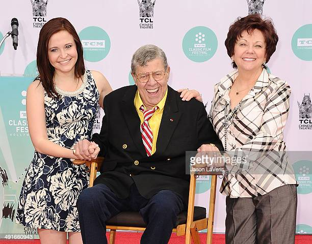 Danielle Sarah Lewis comedian Jerry Lewis and SanDee Pitnick attend Lewis' Hand And Footprint Ceremony at TCL Chinese Theatre IMAX on April 12 2014...