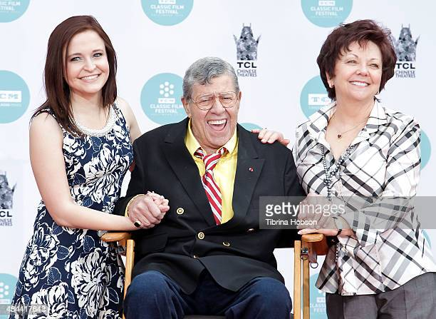 Danielle Sarah Lewis Jerry Lewis and SanDee Pitnick attend a ceremony to honor Lewis with a hand and footprint ceremony at TCL Chinese Theatre IMAX...