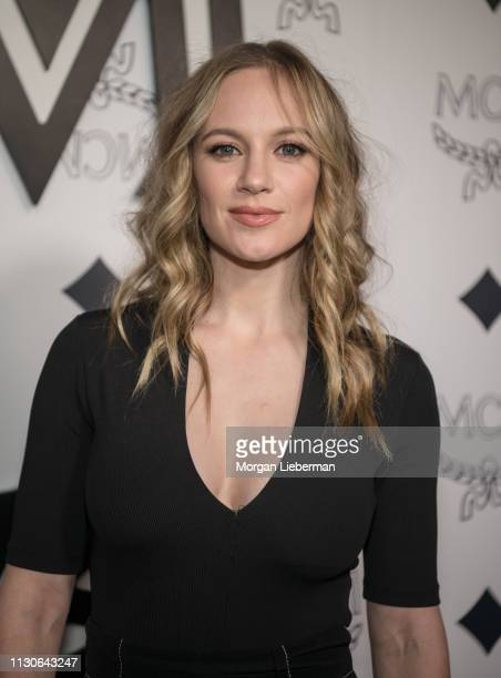 Danielle Savre arrives at the MCM Global Flagship Store Grand Opening On Rodeo Drive at the MCM Global Flagship Store on March 14 2019 in Beverly...