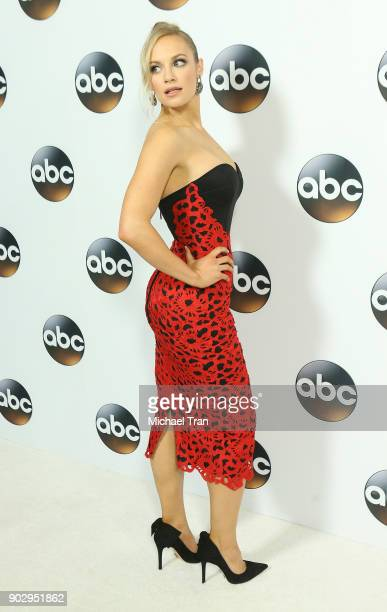 Danielle Savre attends the Disney ABC Television Group hosts TCA Winter Press Tour 2018 held at The Langham Huntington on January 8 2018 in Pasadena...