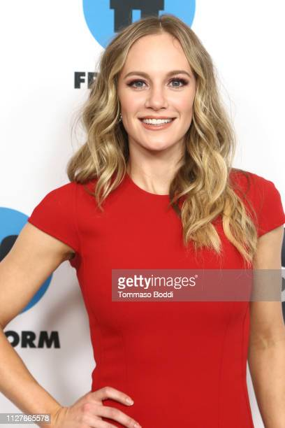 Danielle Savre attends the Disney ABC Television Hosts TCA Winter Press Tour 2019 at The Langham Huntington Hotel and Spa on February 05 2019 in...