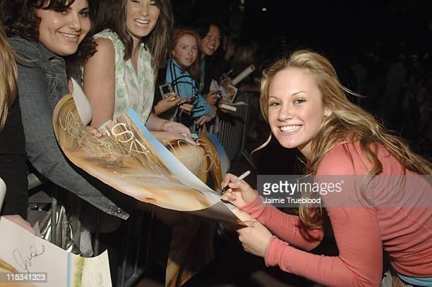Danielle Savre during Jesse McCartney and Summerland Cast Visit Hollister Store in Newport Beach at Newport Fashion Island in Newport Beach...