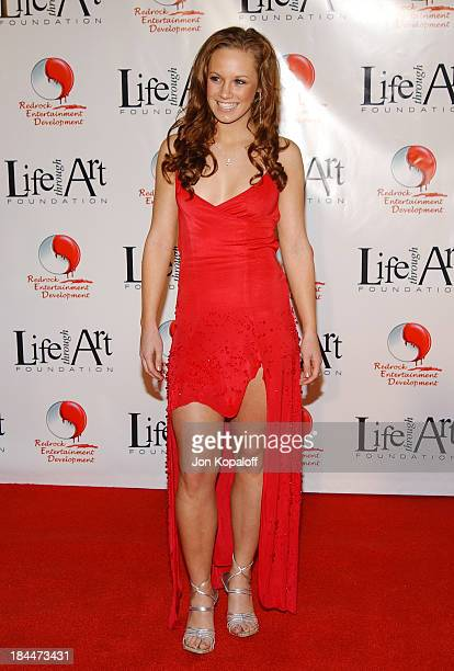 Danielle Savre during Red Party 2004 Benefiting The Life Through Art Foundation at Shrine Auditorium in Los Angeles California United States