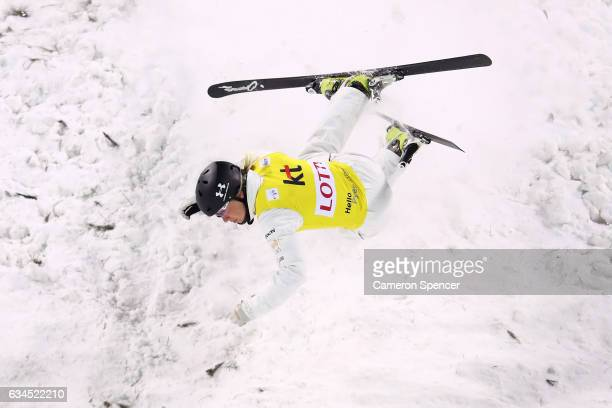 Danielle Scott of Australia crashes in the FIS Freestyle Ski World Cup 2016/17 Ladies Aerials final at Bokwang Snow Park on February 10 2017 in...