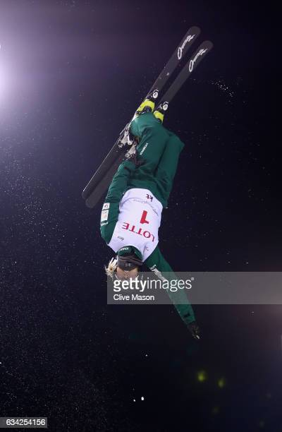 Danielle Scott of Australia in action during womens aerials traing prior to the FIS Freestyle World Cup at Bokwang Snow Park on February 8 2017 in...