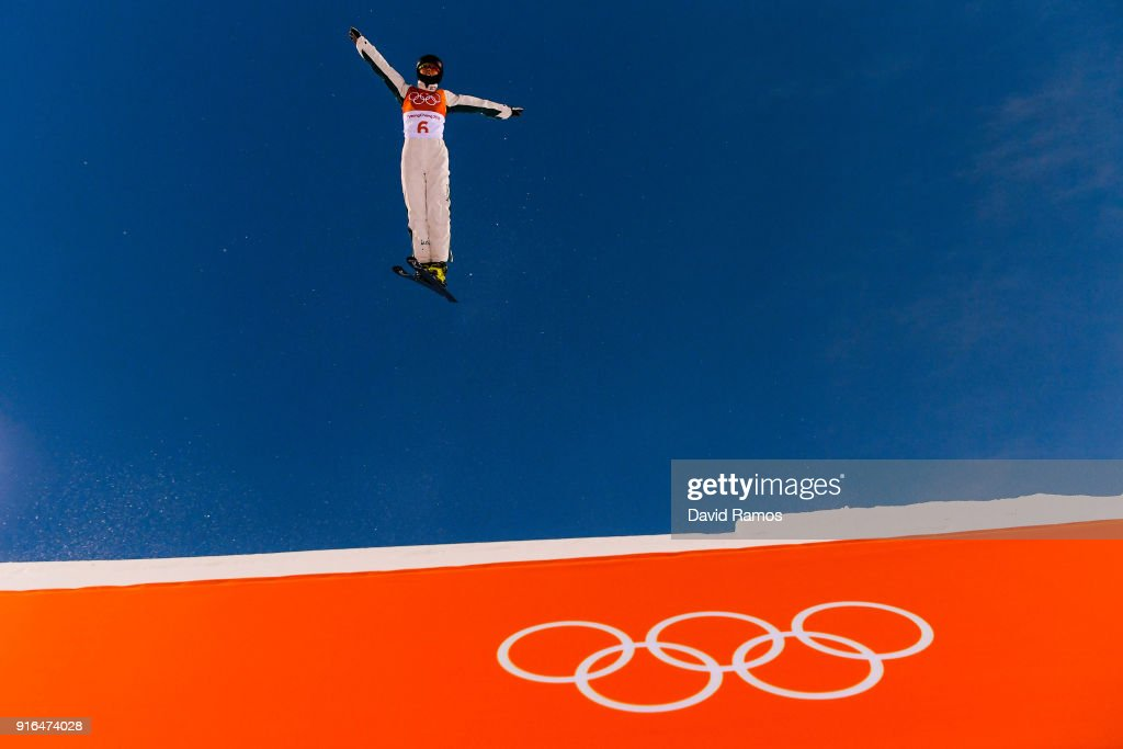 Danielle Scott of Australia practices during Freestyle Skiing Aerials training on day one of the PyeongChang 2018 Winter Olympic Games at Phoenix Snow Park on February 10, 2018 in Pyeongchang-gun, South Korea.