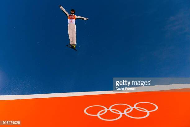 Danielle Scott of Australia practices during Freestyle Skiing Aerials training on day one of the PyeongChang 2018 Winter Olympic Games at Phoenix...