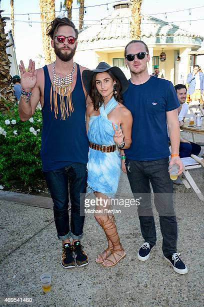 Danielle Snyder of Danijo and friends at Soho Desert House on April 12, 2015 in La Quinta, California.