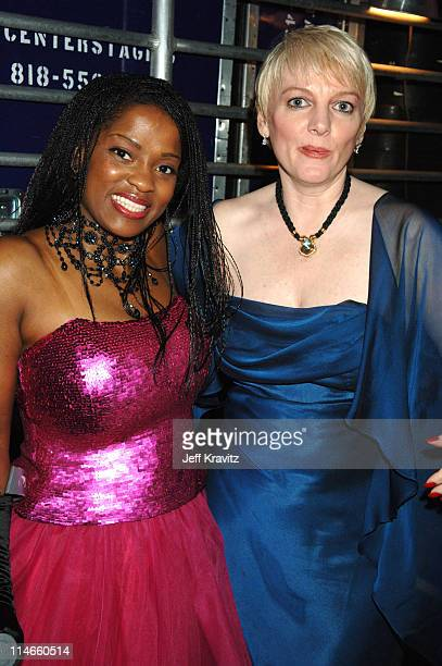Danielle Spencer and Alison Arngrim during 2006 TV Land Awards Backstage and Audience at Barker Hangar in Santa Monica California United States