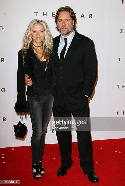 Danielle Spencer and Russell Crowe arrive at The Star Opening Party on October 25, 2011 in Sydney, Australia.
