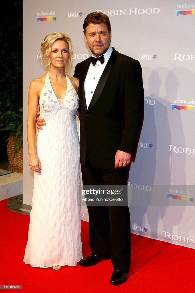 Danielle Spencer and Russell Crowe attend the 'Robin Hood' After Party at the Hotel Majestic during the 63rd Annual Cannes International Film Festival on May 12, 2010 in Cannes, France.
