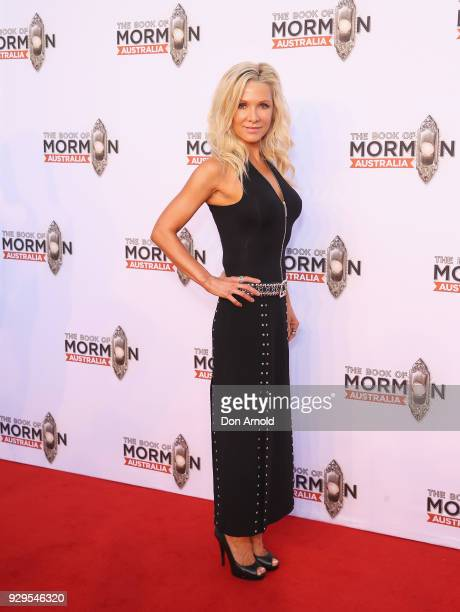 Danielle Spencer arrives ahead of The Book of Mormon opening night at the Lyric Theatre Star City on March 9 2018 in Sydney Australia