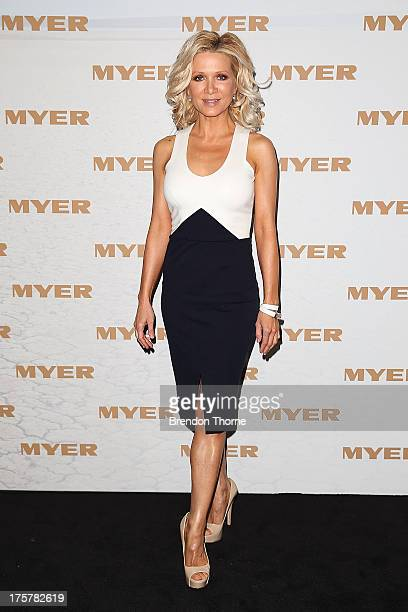 Danielle Spencer arrives at the Myer Spring/Summer 2014 Collections Launch at Fox Studios on August 8 2013 in Sydney Australia
