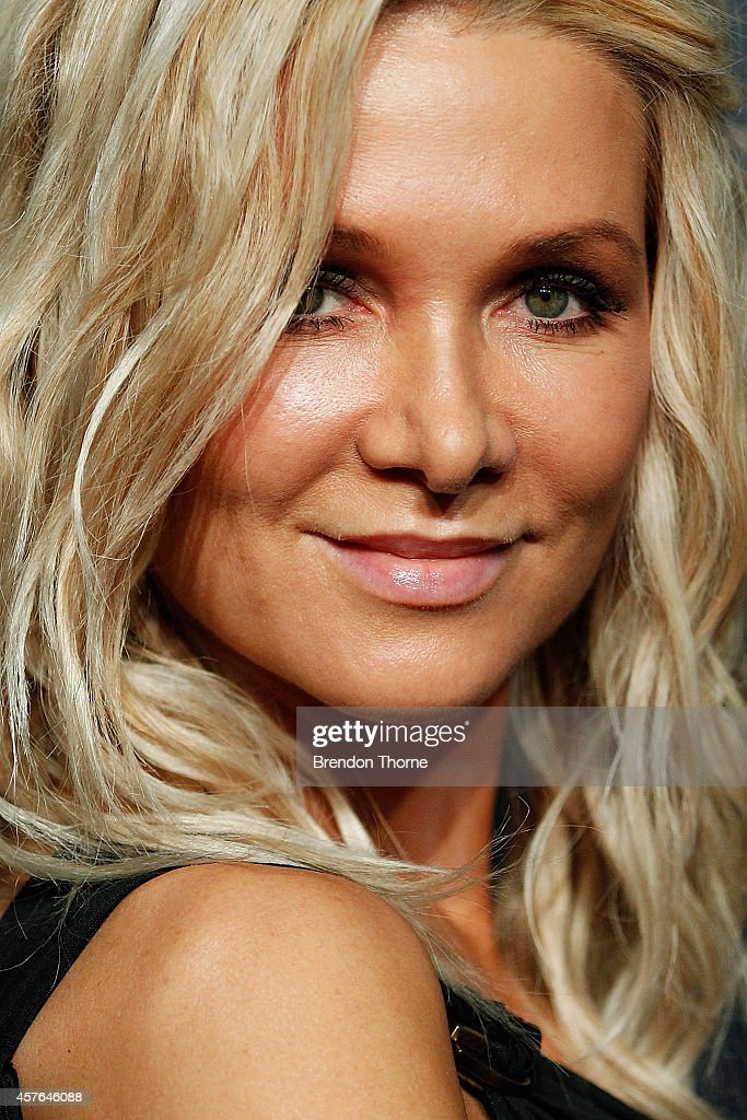 Danielle Spencer poses at WHO's sexiest people party 2014 at Fox Studios on October 22, 2014 in Sydney, Australia.