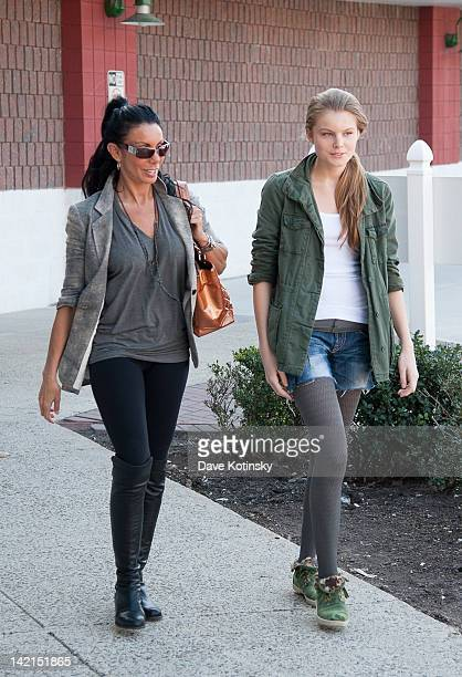 Danielle Staub and daughter Christine Staub visit Hollywood Tans at Edgewater Commons on March 30 2012 in Edgewater New Jersey