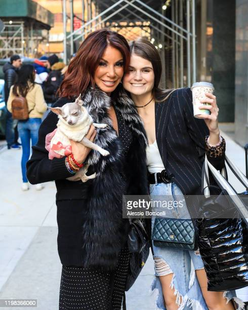 Danielle Staub and daughter Jillian Staub are seen at Watch What Happens Live on January 08 2020 in New York City