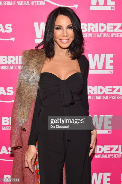 Danielle Staub attends WE tv Launches Bridezillas Museum Of Natural Hysteria on February 22 2018 in New York City