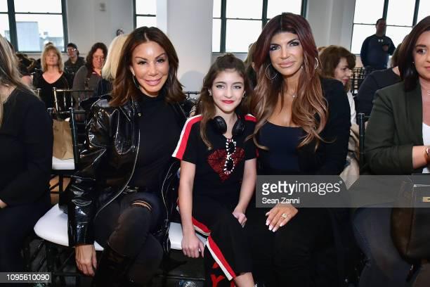 Danielle Staub, Audriana Giudice and Teresa Giudice attend Cosmopolitan NYFW on February 8, 2019 in New York City.