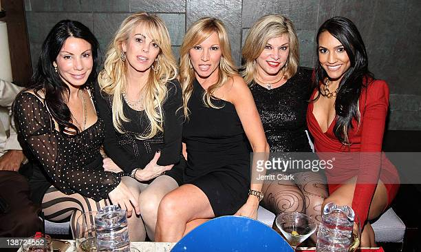 Danielle Staub Dina Lohan Cheryl Caruso guest and Eunice Quinones attend EQ Enterprises And Manhattan Motorcars Present NY Fashion Week Kickoff Event...