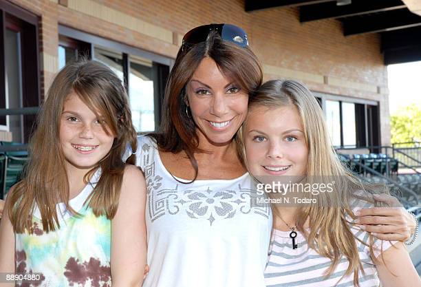 Danielle Staub of Bravo's The Real Housewives of New Jersey and daughters Jillian Staub and Christine Staub attend Ladies Night at the Bears Eagles...