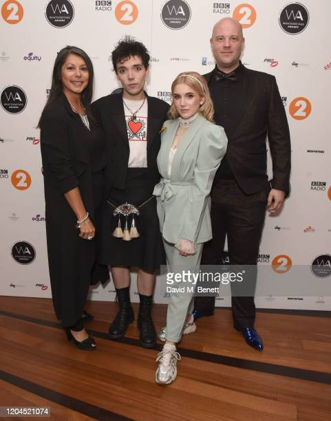 Danielle Tarento Keith Ramsay Georgia Louise and Alex Sutton attend The WhatsOnStage Awards 2020 at The Prince of Wales Theatre on March 1 2020 in...