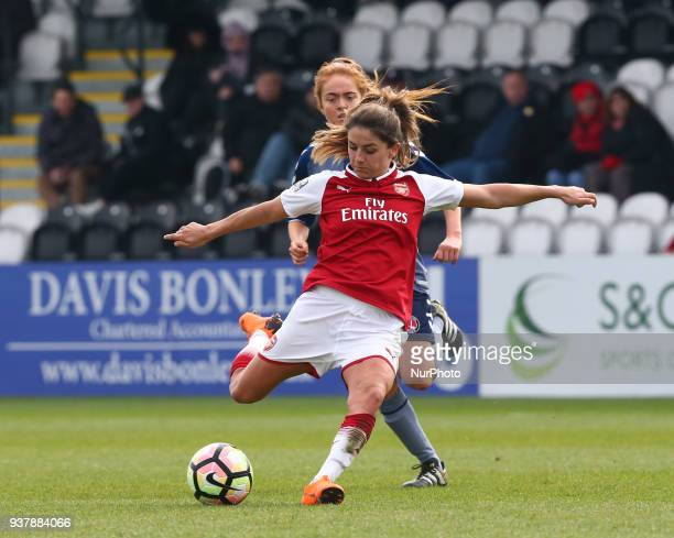 Danielle van de Donk of Arsenal during SSE Women's FA Cup quarter_final match between Arsenal against Charlton Athletic Women at Meadow Park...