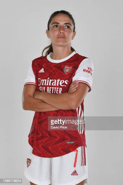 Danielle van de Donk of Arsenal during the Arsenal Women's Photocall at London Colney on August 12, 2020 in St Albans, England.