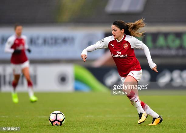 Danielle van de Donk of Arsenal during Women's Super League 1 match between Arsenal against Sunderland AFC Ladies at Borehamwood Football Club London...