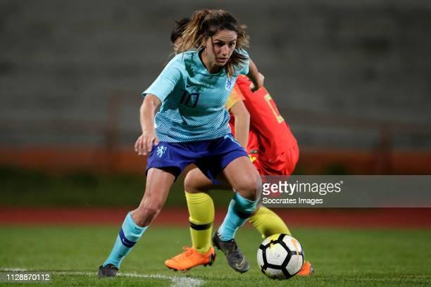Danielle van de Donk of Holland Women during the Algarve Cup Women match between China PR v Holland at the Estadio Municipal de Albufeira on March 6,...