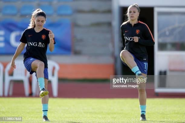 Danielle van de Donk of Holland Women, Lieke Martens of Holland Women during the Algarve Cup Women match between China PR v Holland at the Estadio...