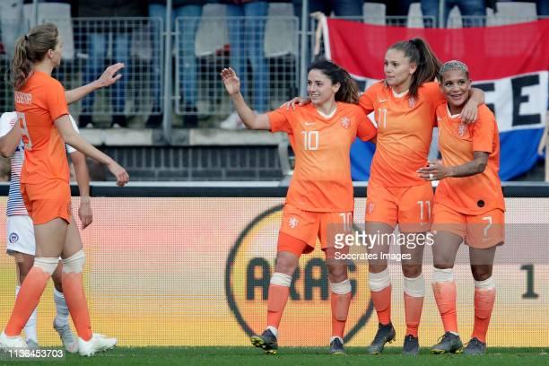 Danielle van de Donk of Holland Women Lieke Martens of Holland Women Shanice van de Sanden of Holland Women Vivianne Miedema of Holland Women during...