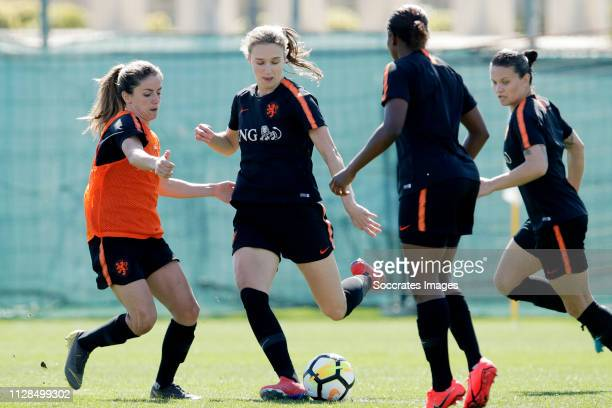 Danielle van de Donk of Holland Women Vivianne Miedema of Holland Women during the Training Holland Women at the Cascade Resort on March 3 2019 in...