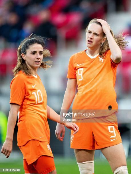 Danielle van de Donk of Holland women Vivianne Miedema of Holland women during the women's international friendly match between The Netherlands and...