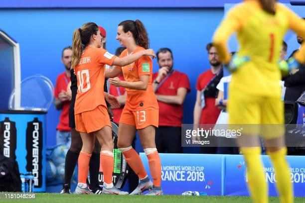 Danielle van de Donk of Netherlands women, Renate Jansen of Netherlands women during the FIFA Women's World Cup France 2019 group E match between The...