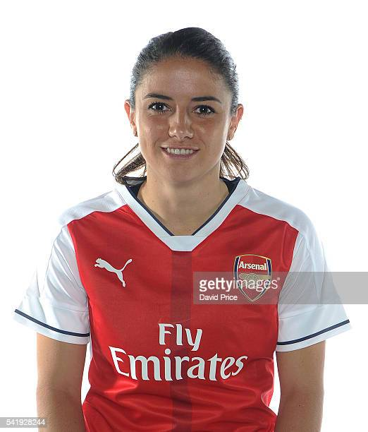 Danielle van de Donk of the Arsenal Ladies during their photocall at London Colney on June 16 2016 in St Albans England