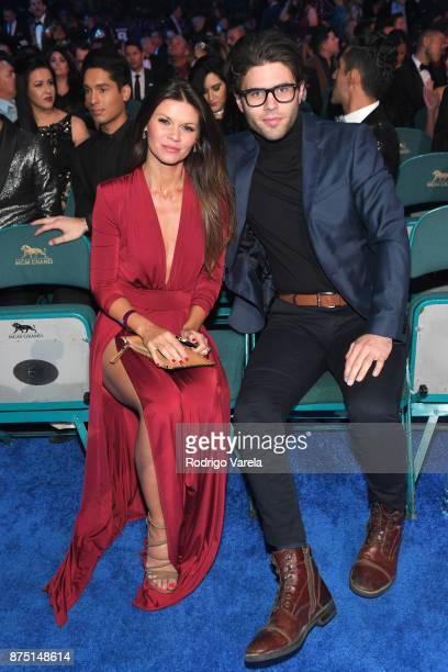 Danielle Vasinova and guest attend The 18th Annual Latin Grammy Awards at MGM Grand Garden Arena on November 16 2017 in Las Vegas Nevada