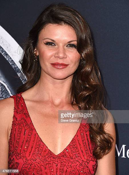 Danielle Vasinova arrives at the 'Jurassic World' World Premiere at Dolby Theatre on June 9 2015 in Hollywood California
