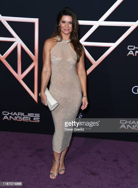 """Danielle Vasinova arrives at the Premiere Of Columbia Pictures' """"Charlies Angels"""" at Westwood Regency Theater on November 11, 2019 in Los Angeles,..."""