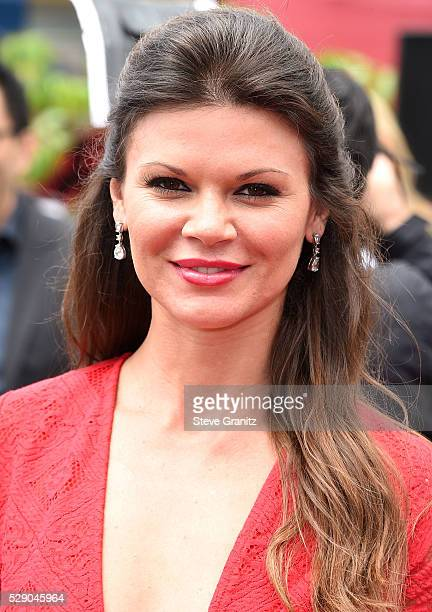 Danielle Vasinova arrives at the Premiere Of Sony Pictures' 'The Angry Birds Movie' at Regency Village Theatre on May 7 2016 in Westwood California