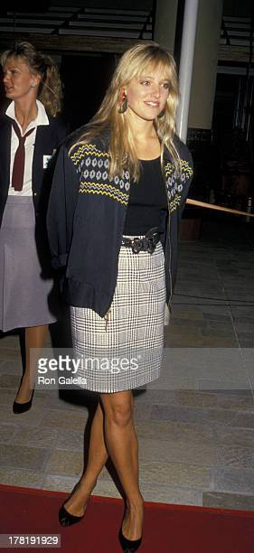 Danielle von Zerneck attends the premiere of Hail Hail Rock N Roll on October 8 1987 at the AMC Century City Theater in Century City California