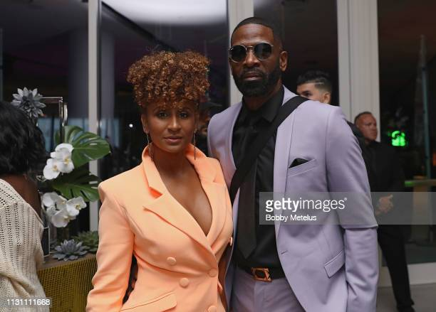 Danielle Wade and Dwyane Wade Sr attend the 6th Annual A Night On The Runwade at Aventura Mall on March 16 2019 in Miami Florida